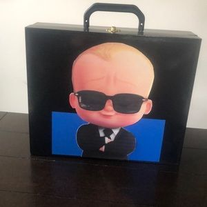 Boss baby briefcase for cupcake or Cakepop display